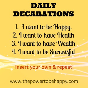Daily Declarations